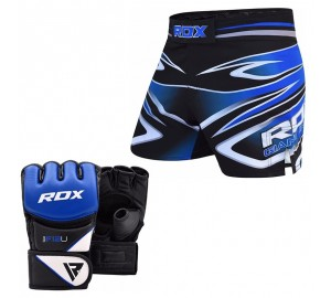 RDX MMA Grappling Gloves With Training Shorts