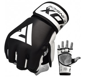 RDX T9 Hearse Leather MMA Grappling Gloves