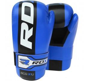 RDX X1U Semi Contact Blue Taekwondo Gloves