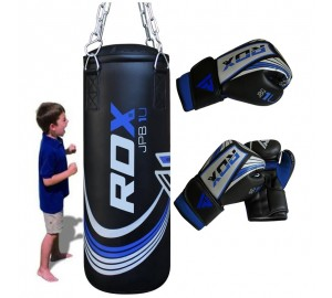 RDX X1U Filled Demo Kids Punch Bag & Gloves