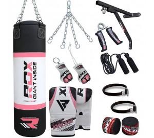 RDX 17pc Ladies Zero Impact G-Core Boxing Set Punching Bag