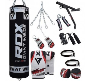 RDX X1 17PC Black Punch Bag Set
