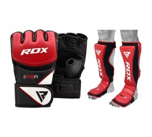 RDX Grappling Gloves And Shin Instep