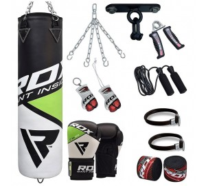 RDX 13pc Boxing Punch Bag With Boxing Gloves