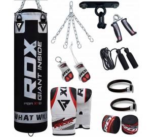 RDX 13pc Zero Impact G-Core Boxing Set Heavy Punch Bag Black