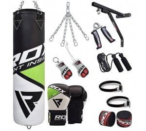 RDX 17pc Heavy Duty Punching Bag & Boxing Gloves