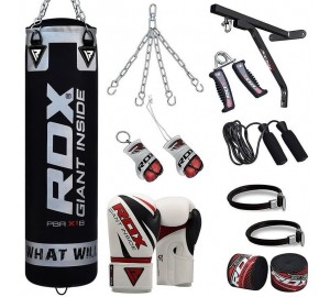 RDX 17pc Punch Bag Set With Wall Bracket