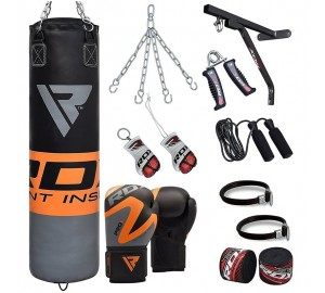 RDX 17pc Punching Heavy Duty Bag & Boxing Gloves