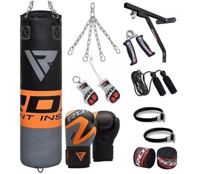 RDX 17pc Punching Heavy Duty Bag & Boxing Gloves