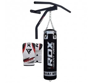 RDX 5ft Punch Bag Chains Gloves Chin Pull UP Bar