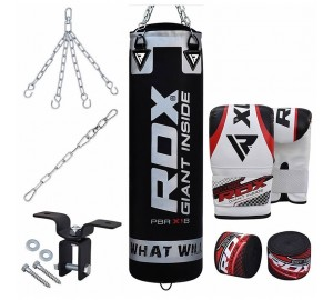 RDX 8pc Zero Impact Heavy G-Core Punch Bag Set