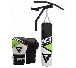 RDX Boxing 5FT Filled Punch Bag & Pull Up Bar