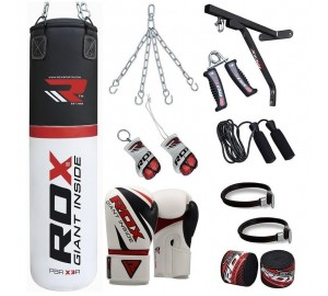 RDX 17pc Heavy Punch Bag Set & Boxing Gloves