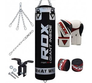 RDX 8pc Heavy Punch Bag Boxing Gloves