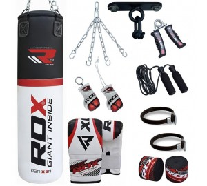 RDX 13pc Heavy Punch Bag With Ceiling Hook