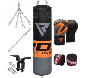 RDX 8pc Boxing Gloves And Heavy Punch Bag