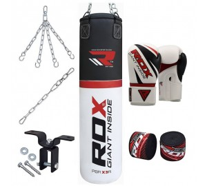 RDX 8pc Boxing Gloves & Heavy Punch Bag
