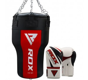 RDX Punching Angle Bag & Boxing Gloves