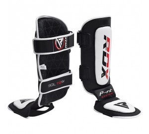 RDX Cow Hide Leather MMA Shin Guards
