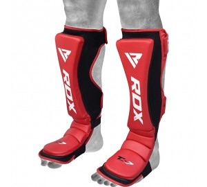 RDX MMA Cow Hide Leather Shin Insteps