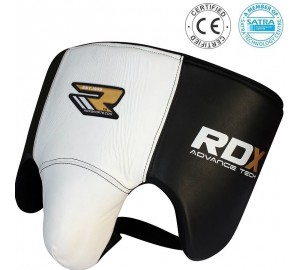 RDX Cow Hide Leather Gel Groin Guard Protector