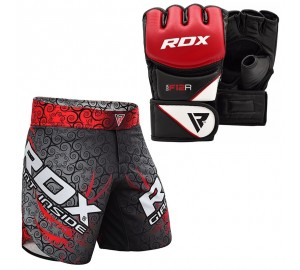 RDX MMA Grappling Gloves And Training Shorts