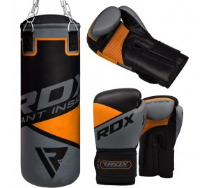 Kids Boxing Gloves With 2ft Punching Bag