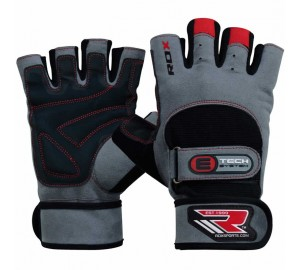 RDX L2 Leather Grey Weight Lifting Gloves