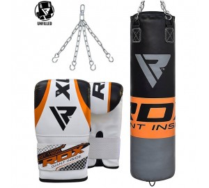 RDX Training Leather Un-Filled Punching Bag