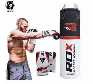RDX Un-Filled Heavy Duty Punch Bag And Boxing Gloves