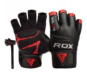 RDX L7 Crown Weightlifting Leather Gym Gloves