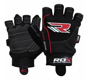 RDX S1 Black Exercise Gym Gloves