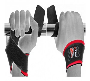RDX Deluxe Leather Wrist Support Weight Lifting Straps