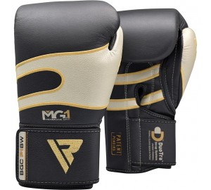 Black 12oz Bazooka Boxing Gloves