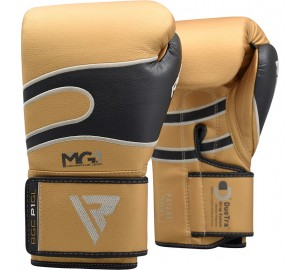 Golden 16oz Bazooka Boxing Gloves