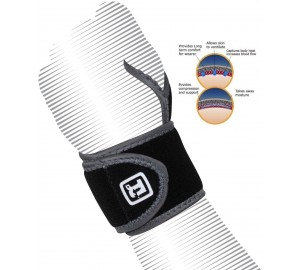 RDX Neoprene Weight Lifting Strap Silicon Wrist Thumb Brace