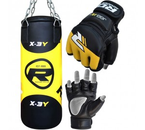 RDX 2FT Boxing MMA Punch Bag With Training Gloves