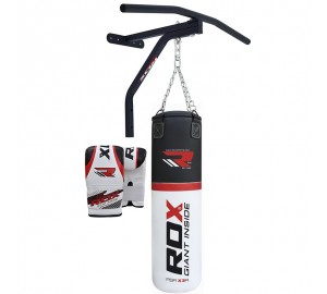 RDX 5ft Punch Bag Pull UP Bar With Bag Mitts