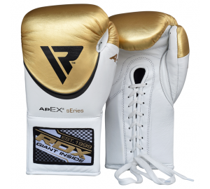RDX Pro Boxing Training Gloves Metallic Leather