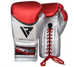 RDX Pro Metallic Leather Boxing Training Gloves
